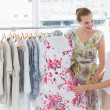 Young women shopping in clothes store — Stock Photo #39182227