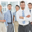 Stock Photo: Confident business team together in office