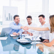Executives shaking hands during a business meeting — Stock Photo #39183109