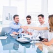 Executives shaking hands during a business meeting — Stock Photo