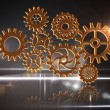 Stock Photo: Cogs and wheels graphic