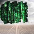 Screen showing green matrix — Stockfoto #39184727