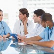 Stock Photo: Doctors in meeting at hospital