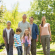 Full length of family walking in park — Stock Photo #39185967