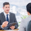 Stock Photo: Recruiter checking candidate during job interview