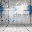 Stock Photo: Splash on wall revealing cloud
