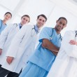 Portrait of doctors standing in a row at hospital — Stock Photo #39188097