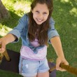 Cute little young girl on swing — Stock Photo #39188503