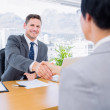 Executives shaking hands after a business meeting — Stock Photo #39188827