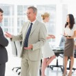 Business people talking together in conference room — Stock Photo