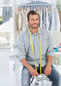 Portrait of a male fashion designer in studio — Stock Photo