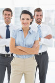 Portrait of a confident smiling business team — Stock Photo