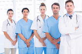 Portrait of serious confident group of doctors — Stock Photo