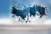Splash showing technology graphic — Stock Photo