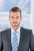Portrait of a handsome young businessman — Stock Photo