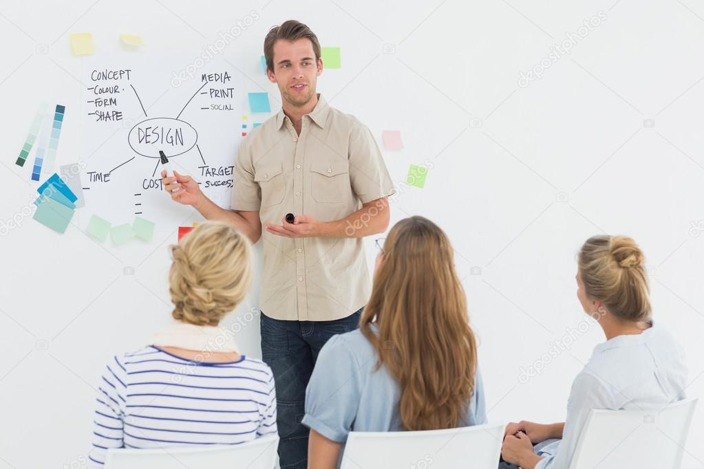 Casual business people working together with computer in ...  |Relaxed Business Person