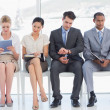Business people waiting for job interview in office — Stock Photo #39190767