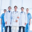 Doctors standing together at hospital — Stock Photo #39191305