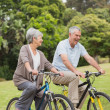 Senior couple on cycle ride in countryside — Stock Photo #39194425