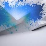 Splash showing blue light — 图库照片