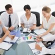 Young well dressed business people in meeting — Stock Photo #39198143