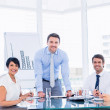 Business people in office at presentation — Stock Photo