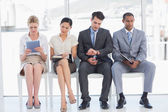 Business people waiting for job interview in office — Stock Photo