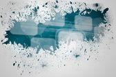 Splash on wall revealing interface — Stock Photo