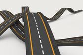 Bumpy roads — Stock Photo