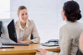 Smartly dressed businesswomen in business meeting — Stock Photo