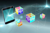 Smartphone applications graphic — Foto Stock