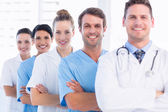 Portrait of confident happy group of doctors — Stock Photo