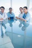 Doctors in a meeting at hospital — Stock Photo