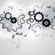 Splash on wall revealing cogs and wheels — Stockfoto #39200029