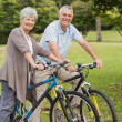 Senior couple on cycle ride in countryside — Stock Photo #39200683