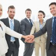 Business team joining hands together — Stock Photo #39201147