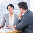 Smartly dressed colleagues in business meeting — Stock Photo #39201281