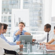 Business team having meeting in board room — Stock Photo #39202543