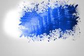 Splash on wall revealing technology interface — Stock Photo