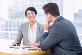 Smartly dressed colleagues in business meeting — Foto Stock