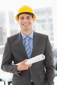Happy architect smiling at camera — Stock Photo