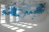 Splash showing global communication — Foto Stock
