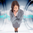 Composite image of worried businesswoman — Stock Photo #39230971