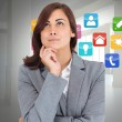 Stock Photo: Composite image of focused businesswoman