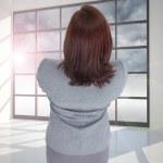 Composite image of businesswoman — Stock Photo