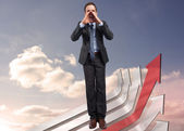 Composite image of shouting businessman — Stock Photo