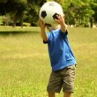 Little boy playing football — Stock Video #42648305