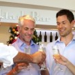 Friends celebrating christmas together with champagne — Vídeo de stock