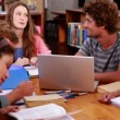 Students working together in the library — Stock Video #42668659