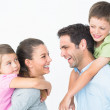 Cheerful young family posing — Stock Photo #42918955